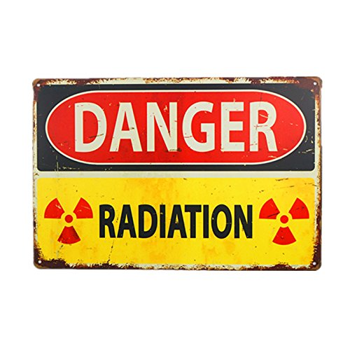 DL-Danger Sign-Danger Radiation Allied Military Vintage Metal Sign -Funny Vintage Signs