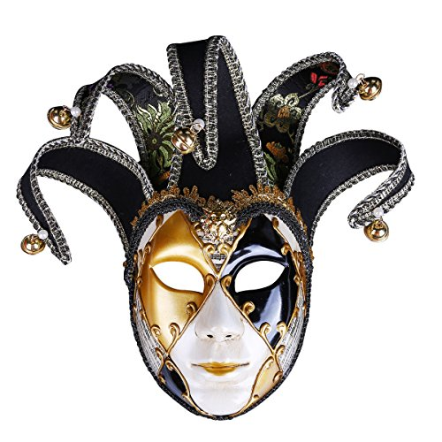 SUZM Scary Painted Halloween Party Mask, Evil Monster Mask, Zombie Costume Decorations Black