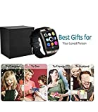 Bluetooth Smart Watch Touchscreen with Camera,Unlocked Watch Cell Phone with Sim Card Slot,Smart Wrist Watch,Waterproof Smartwatch Phone for Android Samsung IOS Iphone 7 Plus 6S (Black)