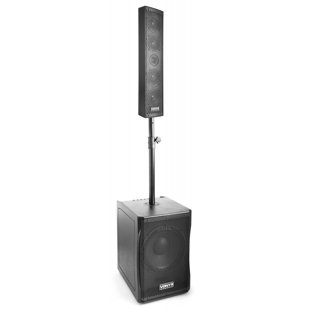 El VX1200 es un set completo de bafles de 2 vias full range plug & play.