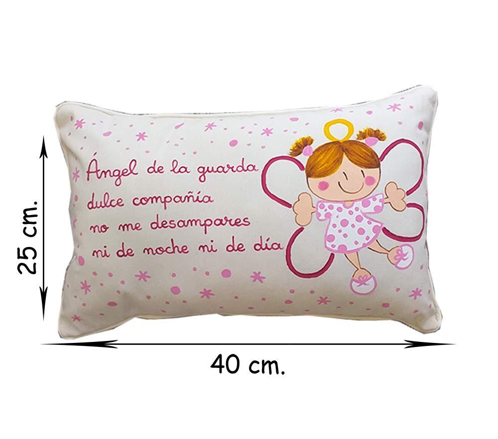 Cojín ángel de la guarda personalizado de bebe rosa: Amazon ...