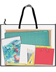 Art Portfolio Bag Poster Storage Bag, with Zipper and Handle Posters Organizer Transparent White Bag for Large Posters, Poster Board, Painting, Bulletin Boards (19 x 25 inch)