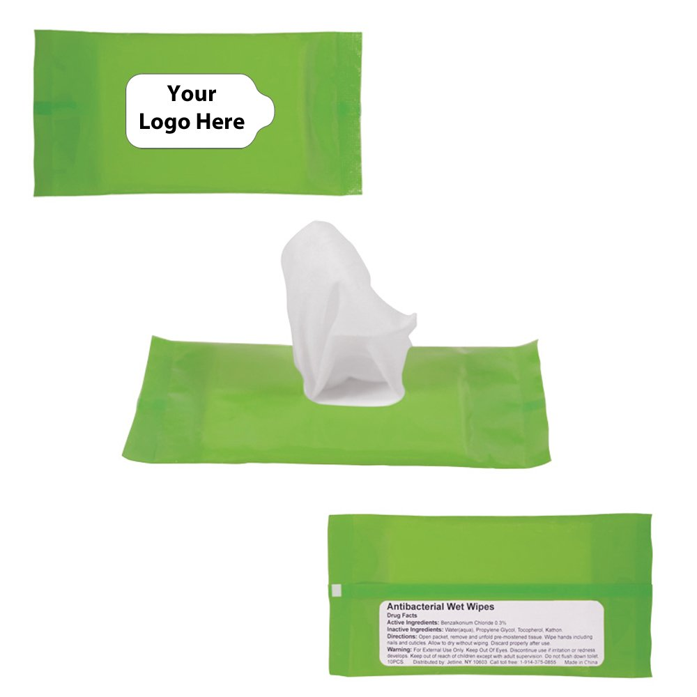 Sanitizer Wipes In Re Sealable Pouch - 150 Quantity - $1.75 Each - PROMOTIONAL PRODUCT / BULK / BRANDED with YOUR LOGO / CUSTOMIZED