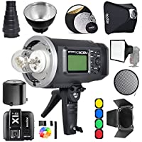 Godox AD600BM Bowens Mount 600Ws GN87 1/8000 HSS Outdoor Flash Strobe Monolight with X1N Wireless Trigger for Nikon camera / 32X32Softbox/Standard Reflector and Grid/Barn Door/Large Snoot