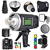 Godox AD600BM Bowens Mount 600Ws GN87 1/8000 HSS Outdoor Flash Strobe Monolight with X1N Wireless Trigger for Nikon camera / 32''X32''Softbox/ Standard Reflector and Grid/ Barn Door/ Large Snoot