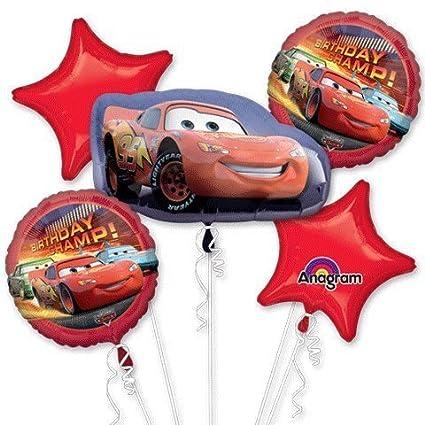 Amazon.com: Cars cumpleaños ramo de globos por Mayflower ...