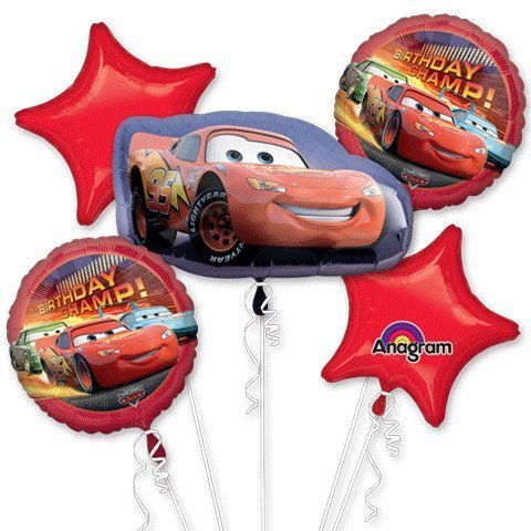 Cars Birthday Bouquet Of Balloons by Mayflower -