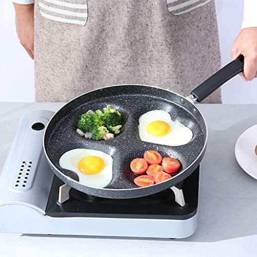 ZCX Egg Boulette Moule Love Four Trous Pan Omelette antiadhésive Mini Egg Boulette Pan Poêle à Frire