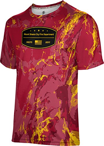 Price comparison product image ProSphere Boys' Mount Shasta City Fire Department Marble Tech Tee (Medium)