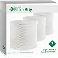 FilterBuy MAF2 Emerson MoistAIR & 15508 Sears Kenmore Humidifier Wick Replacement Filters. Designed to Replace Emerson Part # MAF2 & Kenmore Part # 15508, Noma Part #EF2. Pack of 3.