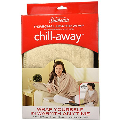 Sunbeam Chill Away Heated Fleece Wrap, 27