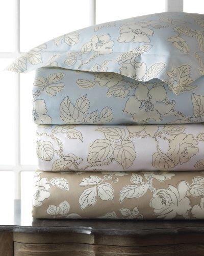 Sferra Marcus Spring Rose Ivory/Yellow King Duvet Cover Set Cotton Print ()