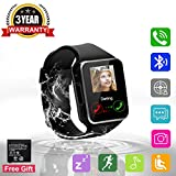 Bluetooth Smart Watch Touchscreen with Camera,Unlocked Watch Cell Phone with Sim Card,Smart Wrist Watch,Waterproof Smartwatch Phone for Android Samsung IOS Iphone 7 Plus 6 6S Men Women Kids Girls