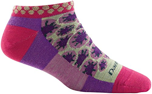 Darn Tough Merino Wool Waterlily No Show Light Sock - Women's Berry Large Discontinued made in Vermont