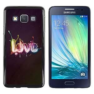 Smartphone Rígido Protección única Imagen Carcasa Funda Tapa Skin Case Para Samsung Galaxy A3 SM-A300 Effects LOVE / STRONG