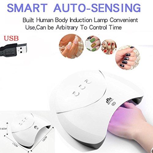 (36W USB LED UV Nail Gel Curing Lamp Light Nail Gel Polish Dryer Nail Art Machine)
