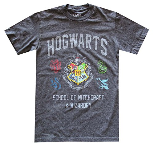 Harry Potter Hogwarts Crest School Of Witchcraft Graphic T-Shirt (Medium)