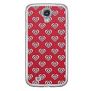 Loud Universe Samsung Galaxy S4 Love Valentine Printing Files A Valentine 61 Printed Transparent Edge Case - Red/White