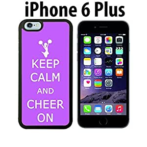 Keep calm Cheer ON Custom made Case/Cover/skin FOR iPhone 6 Plus - Black - Rubber Case ( Ship From CA)