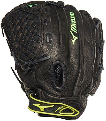 Mizuno GPL1250F1 Prospect Fastpitch Series Right Handed Throw Youth Softball Mitt, Black, 12.50-Inch