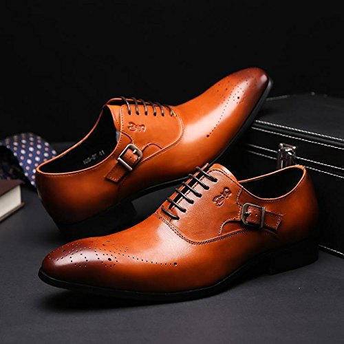 discount collections Felix Chu Men's Classic Formal Dress Shoes Men Buckle Leather Shoes Oxford Shoes for Men discount high quality geniue stockist online buy cheap 100% original sZpYNMLB