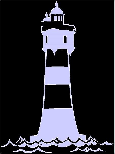 Samunshi Aufkleber Leuchtturm Roter Sand Autoaufkleber In 12 Größen Und 25 Farben 11x15cm Flieder Küche Haushalt