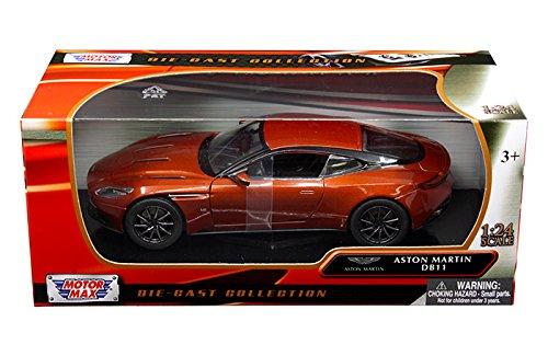- Aston Martin DB11 Copper Orange 1/24 Diecast Model Car by Motormax 79345