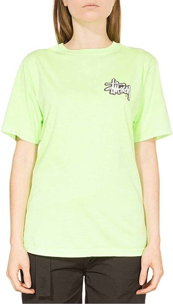 Stussy Shadow Stock Pig. Dyed Camiseta Mujer Verde XS (X-Small): Amazon.es: Ropa y accesorios