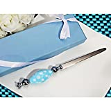 Murano Letter Opener with Blue and White Dot Handle - 60 Pieces