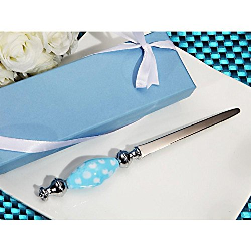 Murano Letter Opener with Blue and White Dot Handle - 24 Pieces Four Piece Letter Opener