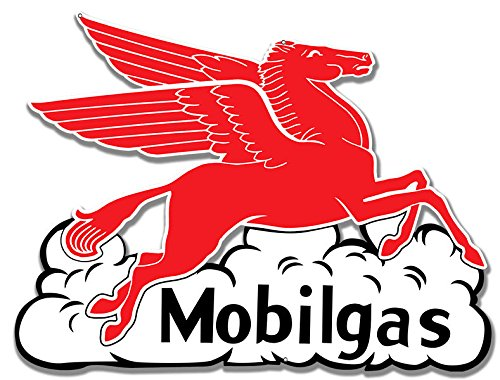 Victory Vintage Signs Mobilgas Pegasus Flying Horse in Cloud Gas Station Sign
