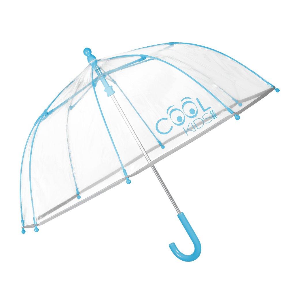 Perletti 15532Parapluie Transparent Enfant - Parapluie Cloche en PEG Garçon et Fille - Ouverture de securité - 3/6 Ans - Diamètre 64 cm (Bleu) BR Perletti S.P.A. Perletti_15532