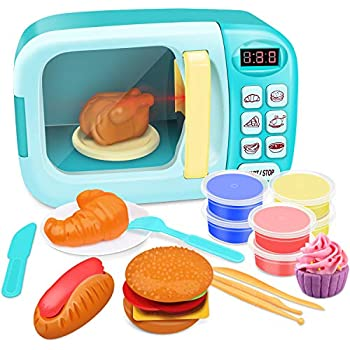 Amazon Com Growthpic Toy Kitchen Microwave Play Set Kids