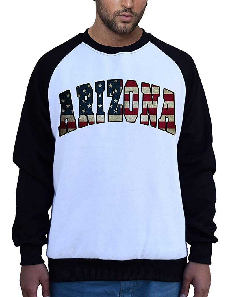 Mens Arizona USA Flag B1548 PLY Raglan Sweatshirt