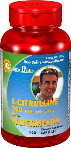 Puritan Pride 2 Bouteilles de L-citrulline Plus de pastèque 500/100 mg-5
