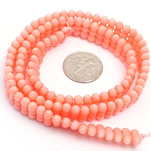 JOE FOREMAN 4x11mm Pink Coral Semi Precious Gemstone Loose Beads for Jewelry Making DIY Handmade Craft Supplies 15