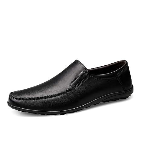 Zapatos Mocasines para hombre 2018 Hombres, cómodos y transpirables, de color puro y suave