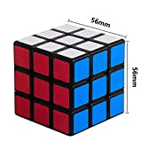Sengso Speed Cube 3x3 Magic Cube Brain Teaser Puzzle Smooth Turning Sticker Black