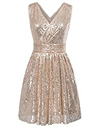Sequin Sleeveless Short Dress