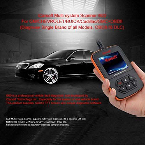 iCarsoft i900 General Motors Gm Obd2 Car Truck Diagnostic Scanner Tool Reset Erase Fault -