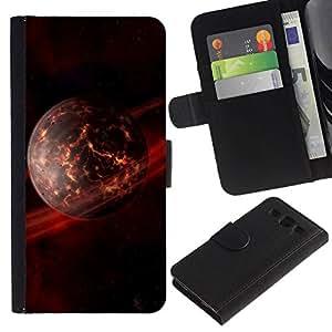 All Phone Most Case / Oferta Especial Cáscara Funda de cuero Monedero Cubierta de proteccion Caso / Wallet Case for Samsung Galaxy S3 III I9300 // Dieing Star Planet