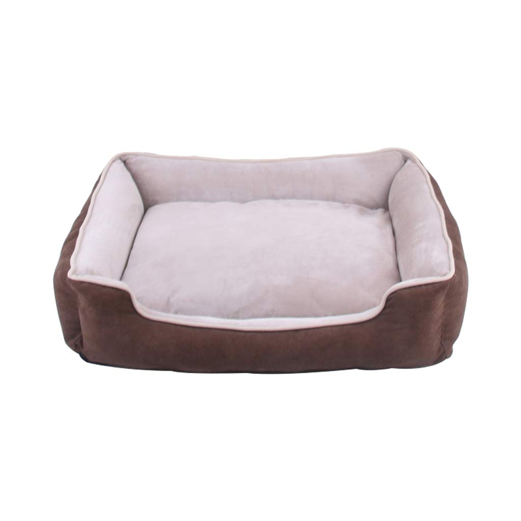 Light Brown M Light Brown M PLDDY pet bed Super Soft Fabric Pet Bed, Cat and Dog, Short Plush Fabric, All Removable and Washable, Suitable for Large, Medium and Small Pets (color   Light Brown, Size   M)