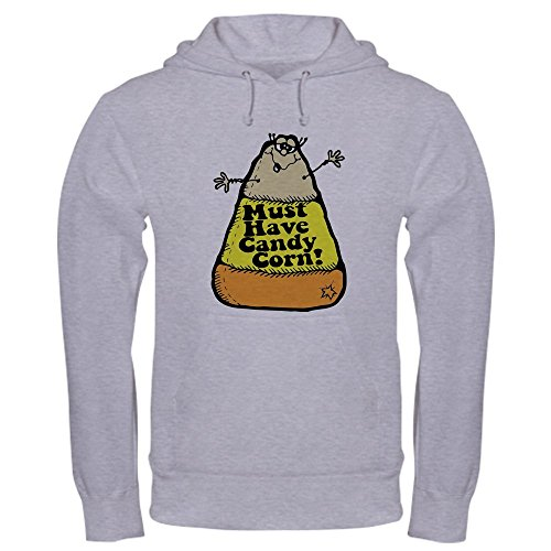 CafePress Funny Halloween Candy Corn Hooded Sweatshirt Pullover Hoodie, Classic & Comfortable Hooded Sweatshirt Heather Grey ()