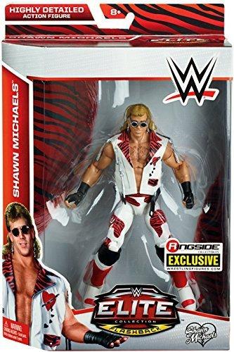Wrestling Heartbreak Kid Shawn Michaels - Ringside Collectibles Elite Flashback Exclusive Mattel WWE Toy Action Figure