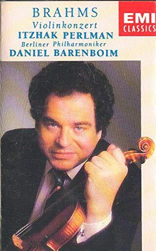 Itzhak Perlman/Daniel Barenboim/Berliner Philharmoniker: Brahms Concerto for Violin & Orchestra in D Op. 77 Cassette Tape
