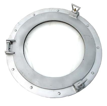 nautical com aluminum mirror porthole ship quot decor dp amazon
