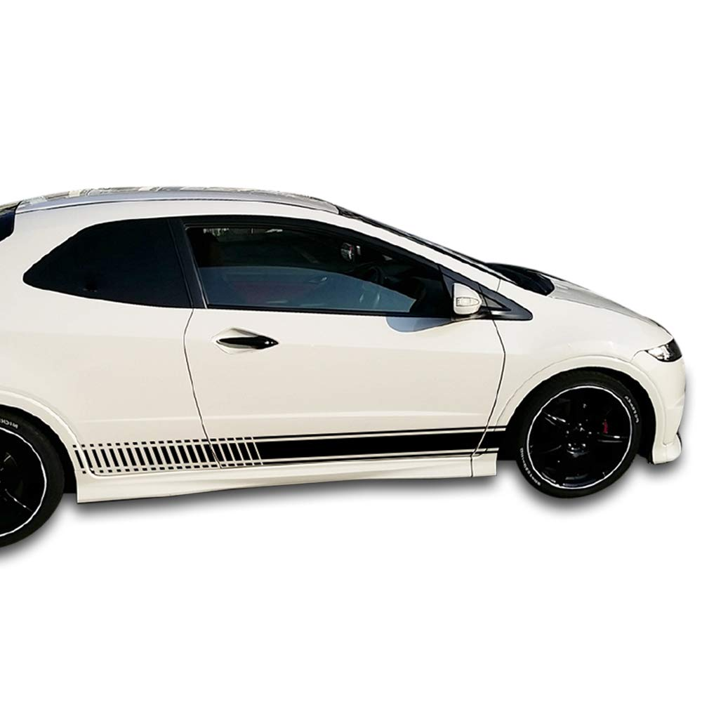 Universal side stripes stickers decals graphic compatible with honda civic type r gt fn2 fd2 2006 2011 decals bumper stickers amazon canada