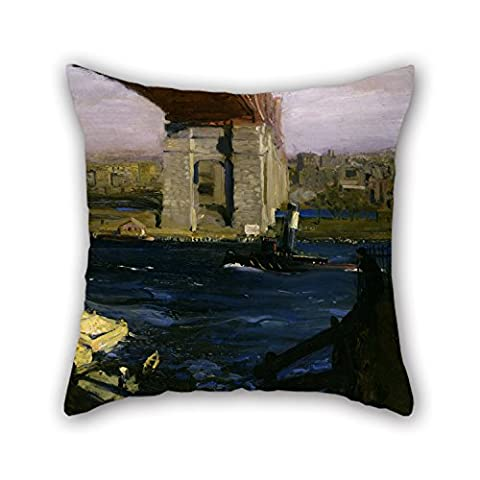 Alphadecor Oil Painting George Wesley Bellows - Bridge, Blackwellâ€s Island Cushion Cases Best For Lover Bedroom Shop Kitchen Home Theater Floor 20 X 20 Inches / 50 By 50 Cm(both - Mustang Bellows