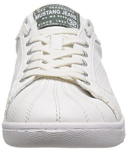 Mustang Sneaker Herren Halbschuhe weiß 4098305 17, Weiß, 40 EU