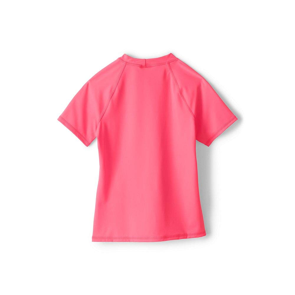 Lands End Girls Graphic Mock Neck Rash Guard classic